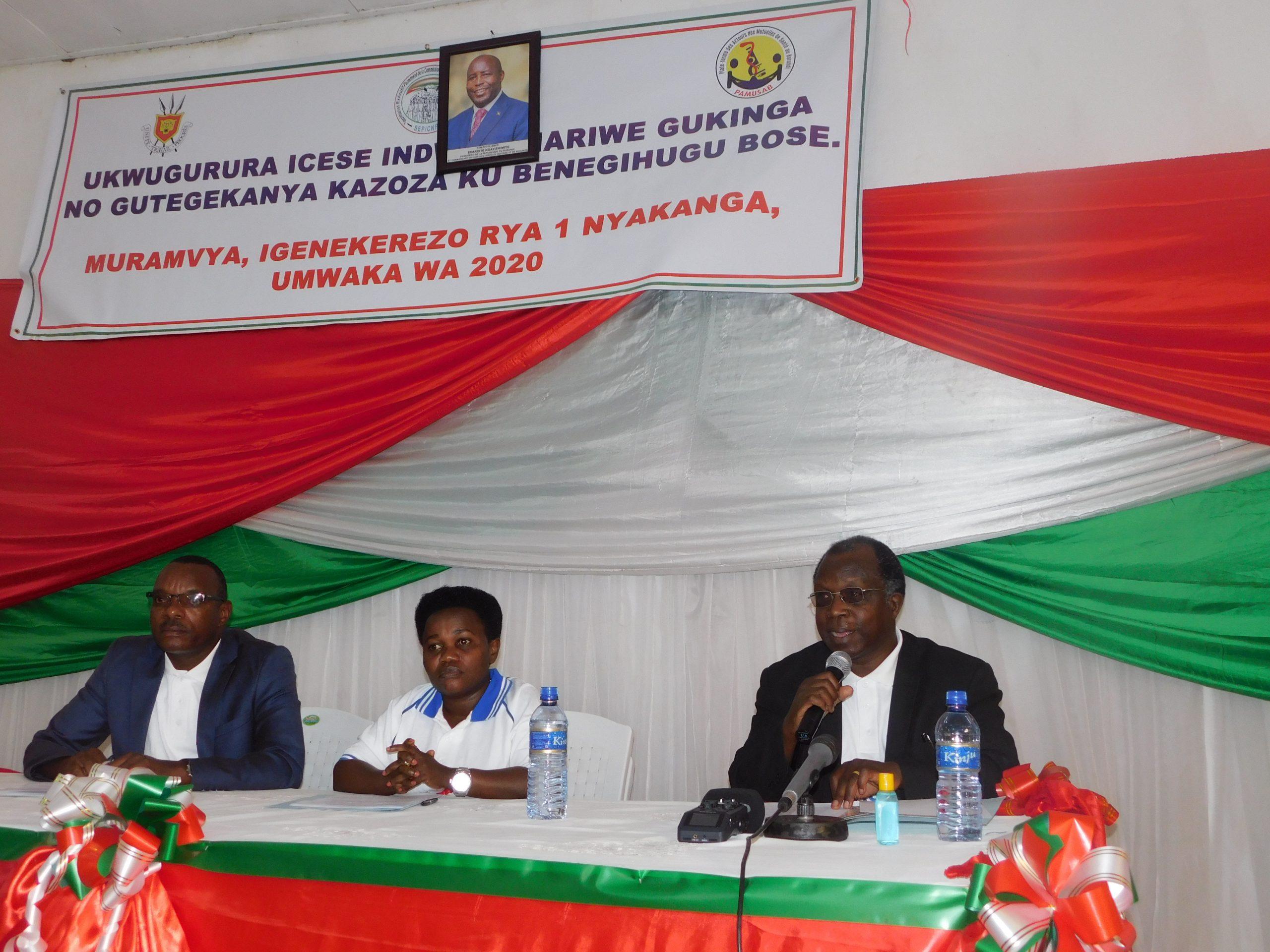 PAMUSAB >> Cérémonies de lancement officielle de la semaine dédiée à la Protection Sociale et à la Mutualité au Burundi, 1er Septembre 2020.